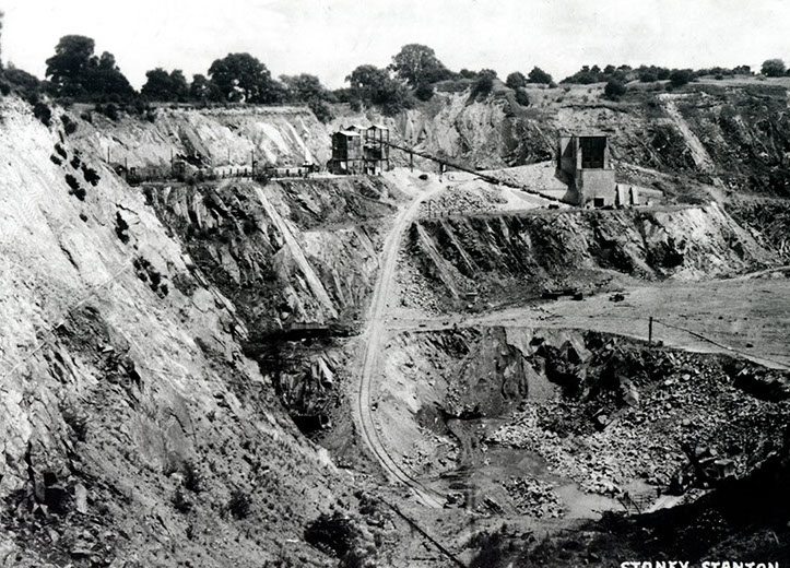 Stone quarrying first began in Stoney Stanton at the beginning of the nineteenth century, however Stoney has been the source of various forms of stone extraction since the Roman period.